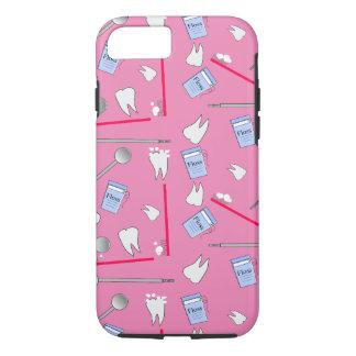Funda Para iPhone 8/7 Higienista dental de las herramientas y rosa de
