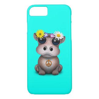 Funda Para iPhone 8/7 Hippie lindo del hipopótamo del bebé