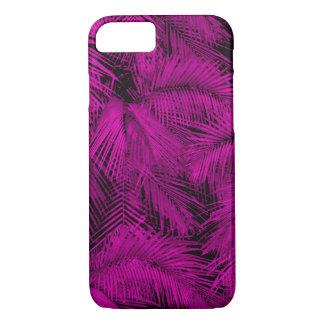 Funda Para iPhone 8/7 Hojas tropicales rosadas hawaianas de las palmas
