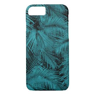 Funda Para iPhone 8/7 Hojas tropicales verde azuladas hawaianas de las