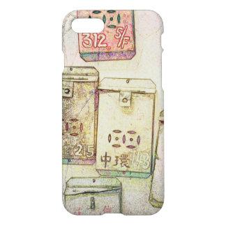 Funda Para iPhone 8/7 Hong Kong retro: Caja metalizado del teléfono de