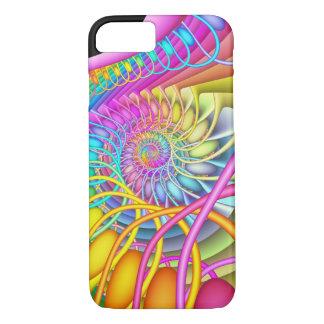 Funda Para iPhone 8/7 Huevos en colores pastel espirales del fractal