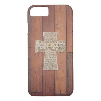 Funda Para iPhone 8/7 I madera rústica de la cruz del capítulo del amor