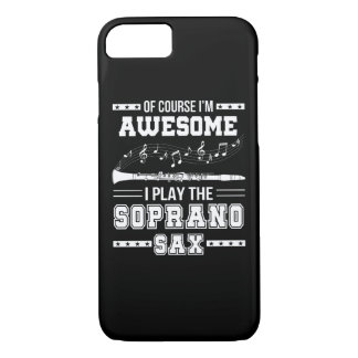 Funda Para iPhone 8/7 Im juego impresionante de I el saxofón del soprano