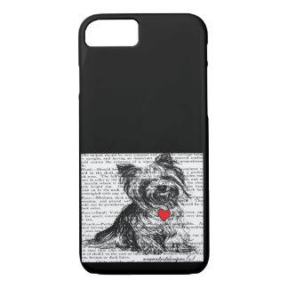 FUNDA PARA iPhone 8/7 IMPRESIÓN DULCE DEL MASCOTA DEL CASO YORKY-VINTAGE