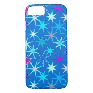 Funda Para iPhone 8/7 Impresión moderna de Starburst, azul cerúleo
