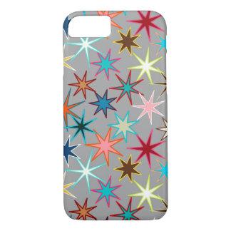 Funda Para iPhone 8/7 Impresión moderna de Starburst, colores de la joya
