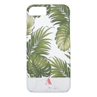 Funda Para iPhone 8/7 Inicial adaptable del mármol de la palmera del