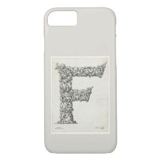 Funda Para iPhone 8/7 Inicial antigua del monograma de la letra F