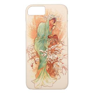 Funda Para iPhone 8/7 Invierno - arte Nouveau de Alfonso Mucha