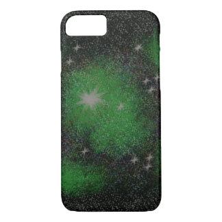 Funda Para iPhone 8/7 iPhone 7/8 caja verde del teléfono de las galaxias