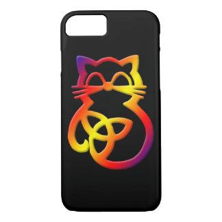 Funda Para iPhone 8/7 iPhone céltico del gato del nudo de la trinidad