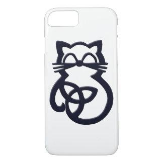 Funda Para iPhone 8/7 iPhone céltico del gato del nudo negro de la