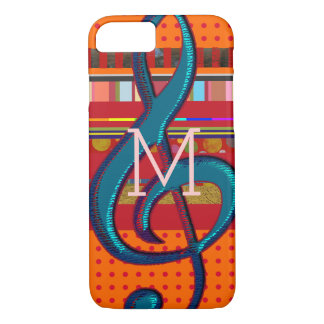 Funda Para iPhone 8/7 iPhone colorido 7 con las rayas y la musical-nota