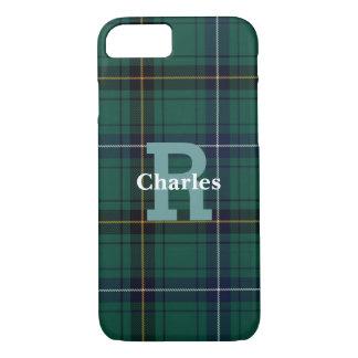 Funda Para iPhone 8/7 iPhone con monograma de la tela escocesa de tartán