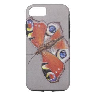 Funda Para iPhone 8/7 Iphone de la mariposa de pavo real 8/7 caso duro