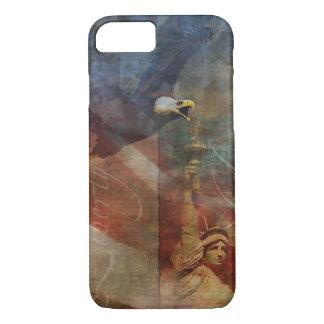 Funda Para iPhone 8/7 iPhone patriótico 7 Shell con el arte de Eagle