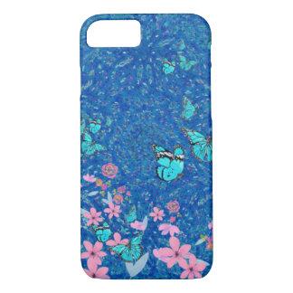 Funda Para iPhone 8/7 Jardín floral de la mariposa