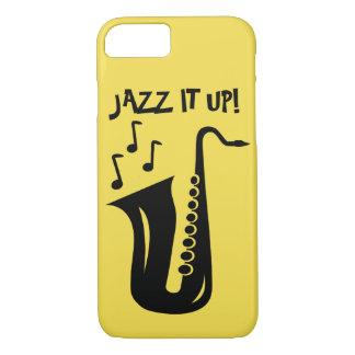 Funda Para iPhone 8/7 Jazz él encima del saxofón Iphone 7 caso de 8 x