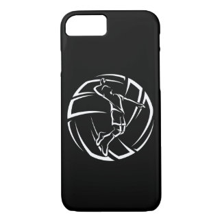 Funda Para iPhone 8/7 Jugador de voleibol masculino estilizado con la