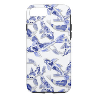 Funda Para iPhone 8/7 Koi azul y blanco