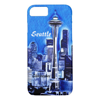 Funda Para iPhone 8/7 La aguja del espacio - Seattle, Washington