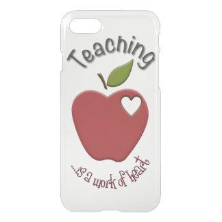 Funda Para iPhone 8/7 La enseñanza es trabajo del iPhone 7 del corazón
