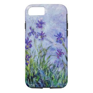 Funda Para iPhone 8/7 La lila de Claude Monet irisa el azul floral del