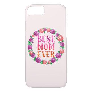 Funda Para iPhone 8/7 La mejor guirnalda floral de la mamá nunca -