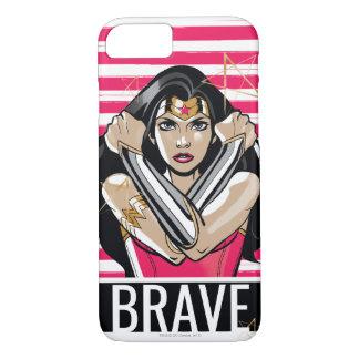 Funda Para iPhone 8/7 La Mujer Maravilla defiende - la plantilla