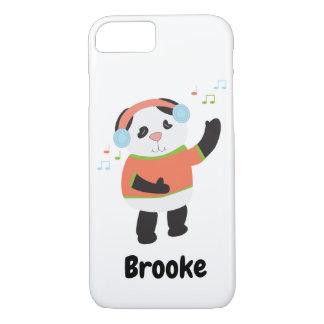 Funda Para iPhone 8/7 La música de danza del oso de panda personaliza