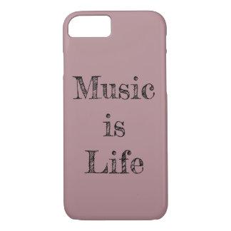 Funda Para iPhone 8/7 La música es vida (la caja del teléfono)