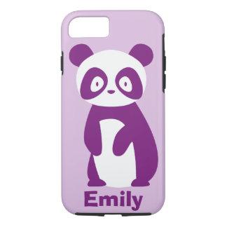 Funda Para iPhone 8/7 La panda púrpura (cualquier nombre) personalizó la