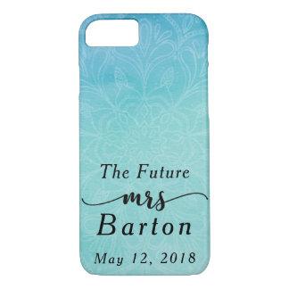 """Funda Para iPhone 8/7 """"La señora futura"""" trullo de la tipografía y"""