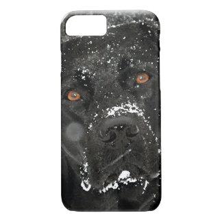 Funda Para iPhone 8/7 Labrador negro - globo de la nieve