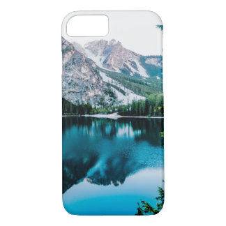 Funda Para iPhone 8/7 Lago brillante forest de las montañas Nevado