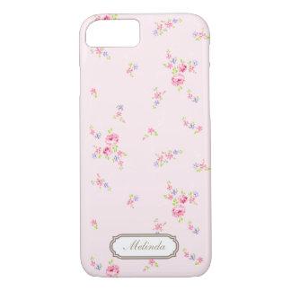 Funda Para iPhone 8/7 Las rosas románticas palidecen - la caja rosada