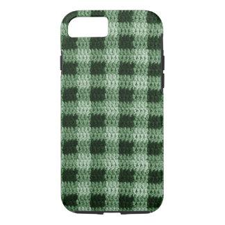 Funda Para iPhone 8/7 Las sombras del ganchillo verde natural de la tela