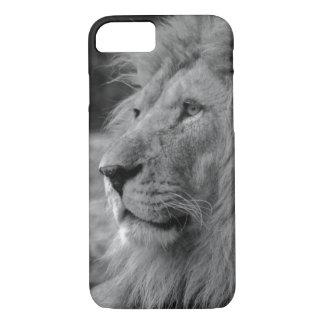 Funda Para iPhone 8/7 León negro y blanco - animal salvaje