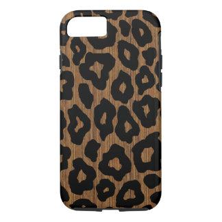Funda Para iPhone 8/7 Leopardo de madera de la MOD