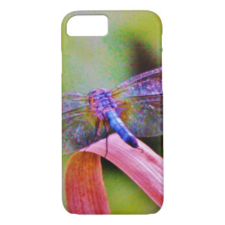 Funda Para iPhone 8/7 Libélula brillante del rosa de arco iris