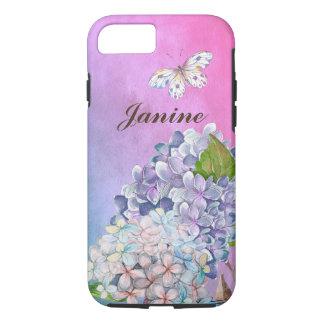 Funda Para iPhone 8/7 Lila y sueño azul del verano del flor del
