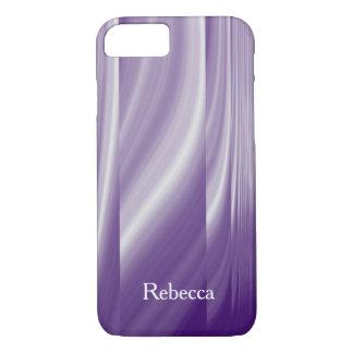 Funda Para iPhone 8/7 líneas púrpuras metálicas de la lila del modelo de