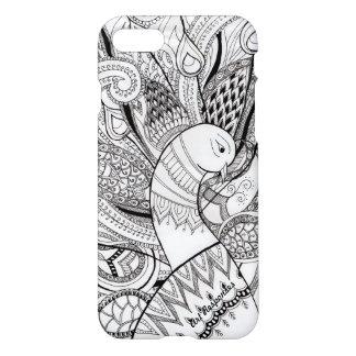 Funda Para iPhone 8/7 Líneas y diseños del pavo real