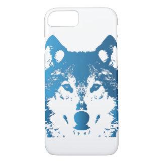Funda Para iPhone 8/7 Lobo de los azules claros del ilustracion