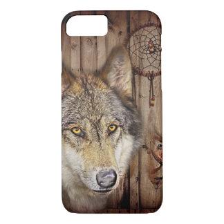 Funda Para iPhone 8/7 Lobo ideal occidental del indio del nativo