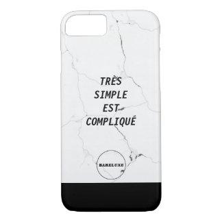 Funda Para iPhone 8/7 Logotipo de mármol SIMPLE mínimo del texto de TRÈS