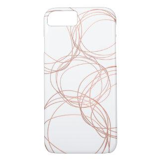 Funda Para iPhone 8/7 Logotipo mínimo del garabato del diseñador en oro