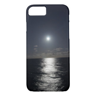 Funda Para iPhone 8/7 luna del caso del iPhone 7 y playa del océano en
