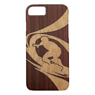 Funda Para iPhone 8/7 Madera de Koa de la persona que practica surf